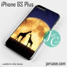 giraffes romantic moon Phone case for iPhone 6S Plus and other iPhone devices