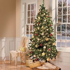 Improvements 7' Wall Christmas Tree with Stand