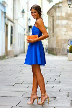 trendy_taste-look-outfit-street_style-blue_dress-vestido_azul-vestido_boda-wedding_dress-smart-chic-azul_klein-zara_necklace-collar_zara-bombonera_naranja-orange_clutch-golden_sandals-sandalias_doradas-14 by Trendy Taste, via Flickr
