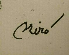 Miró signature. Joan Miro, Monogram, Notes, Paintings, Signs, Paper, Artists, Report Cards, Paint