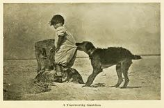 Airedale saving child From the book 'All About Airedales' by R.M. Palmer (1919)
