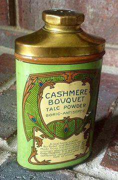 Vintage Cashmere Bouquet Talc Powder Tin by Colgate