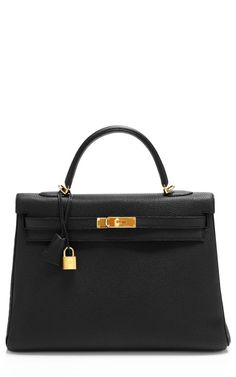 Shop 35cm+Black+Togo+Leather+Retourne+Hermes+Kelly+by+Heritage+Auctions+Special+Collections+for+Preorder+on+Moda+Operandi