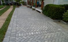 Phase one of the Kelly Project was to waterproof the house. Phase 2 was to insta. Block Paving Driveway, Permeable Driveway, Brick Pathway, Paver Walkway, Driveway Design, Brick Pavers, Grey Pavers, Pool Pavers, Grey Block Paving