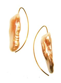 Melissa McArthur Jewellery Abstract Fresh Water Pearl Earing in 22ct Gold Vermeil