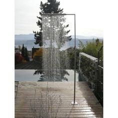 Modern design of pool shower Source by philder Outdoor Pool Shower, Outdoor Baths, Outdoor Bathrooms, Small Backyard Gardens, Backyard Garden Design, Backyard Landscaping, Outdoor Gardens, Garden Bed, Outside Showers