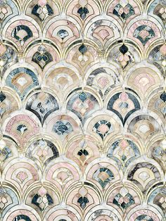 Home Decor Tips edhellin: Art Deco Marble Tiles in Soft Pastels by micklyn .Home Decor Tips edhellin: Art Deco Marble Tiles in Soft Pastels by micklyn Art Deco Tiles, Motif Art Deco, Art Deco Pattern, Tile Art, Art Deco Wall Art, Art Deco Decor, Mosaic Art, Mosaic Tiles, Mosaic Floors