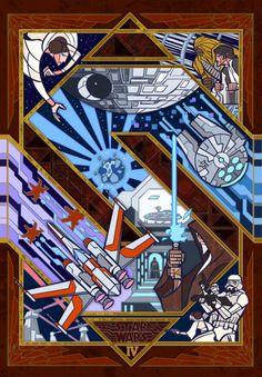 Jian Guo   Star Warsa new hopethe empire strikes backreturn of the jedithe force awakens