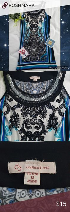 "DRESS ~ PAISLEY BLUE Adorable dress perfect for work or a night out 🌷   🌷Size 12 🌷Round neck with lace n silver decor. 🌷Armpit to Armpit 17"" 🌷Shoulder Down lenght 35"" 🌷Gentle used Dresses Midi"