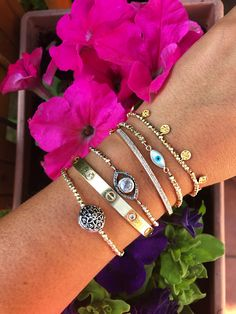 Gold is your friend!! ☺️💗  Amazing wrist stack by Jugar N Spice  Handmade jewelry with diamonds and other gemstones.