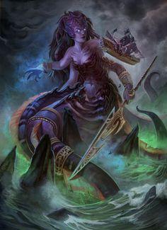 Characters of Wow / Warcraft - Queen Azshara (Naga)