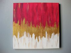 12x12 Original & Abstract Acrylic Art. Painting on Canvas