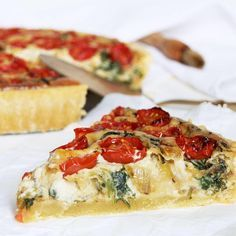 Just posted this cherry tomato  baby spinach quiche yesterdayhellip