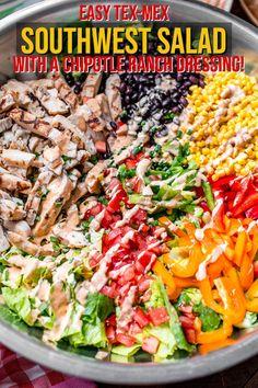 Lettuce Salad Recipes, Chicken Salad Recipes, Healthy Salad Recipes, Best Grilled Chicken Salad Recipe, Salad With Chicken, Juice Recipes, Cucumber Salad, Salad Toppings, Meat Salad