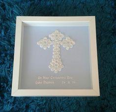 Button christening cross