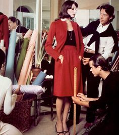 Halston and Stephen Sprouse with Anjelica Huston.