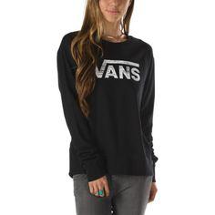 27c1d03b0a Vans Authentic Logo Crew Sweatshirt (Black) Vans Off The Wall