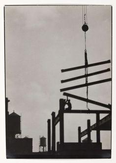 Stalen balken voor het frame van een bouwwerk, Emil Otto Hopp�, 1926
