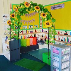 The Reading Area is ready for the children. Check out the 'Reading Buddies' feature!