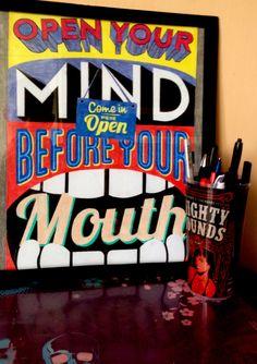 """color pencils ""markers ""motto ""everyday"