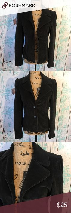 Frenchi Nordstrom velvet black blazer jacket Frenchi Nordstrom velvet feel black blazer jacket size medium Frenchi Jackets & Coats Blazers