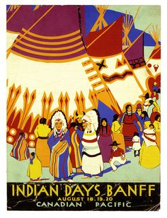 Banff Indian Days, Canadian Pacific, Aug. 1926, Wilfred Langdon Kihn