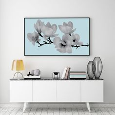 Magnoly Print Flower Illustration Flower Wall Art by LovelyPosters