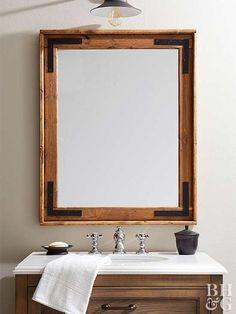 diy wooden mirror frame for bathroom