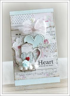 I so want to make something like this! Beautiful card, soft colors