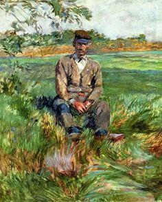 A Laborer at Celeyran, 1882, Henri de Toulouse-Lautrec  Medium: oil on canvas