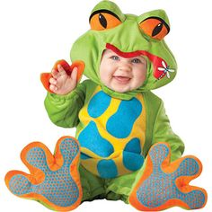 We have many adorable baby animal costumes including this infant lil froggy costume. Check out all of our baby frog costumes and infant animal costumes for an adorable and warm Halloween costume. Baby Halloween Costumes For Boys, Toddler Costumes, Halloween Fancy Dress, Halloween Kids, Infant Halloween, Vintage Halloween, Halloween 2014, Spirit Halloween, Halloween Outfits