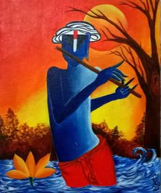 Krishna...Jamuna Mein Bansuri
