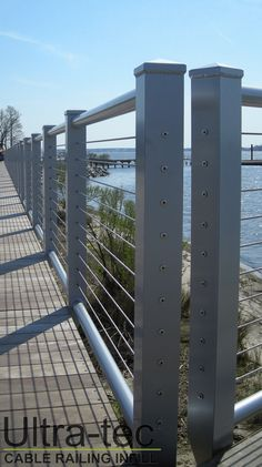 Ultra-tec® cable railing infill in metal posts.
