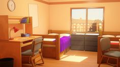 anime visual novel backgrounds episode bedroom drawing visitar rooms ruangan apartment living references interactive variantliving