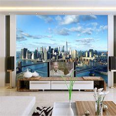 beibehang papel de parede photo wall paper home decor modern architecture New York City World Vision Development mural wallpaper #Affiliate