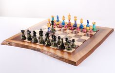 Sydney Gruberu0027s Painted Chess Set   Live Edge Design