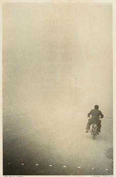 """Rain or Shine, Ride or Die - Robert Frank, """"Man on a Motorcycle"""", Paris, 1948 ::"""