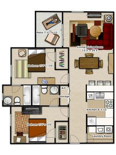 Phase 2 - 2 bedroom apartment at #Stoneridge Apartments, #Gainesville, FL