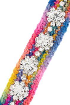 Holi crocheted wool and diamanté bracelet £141.67