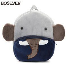 BOSEVEV Plush Children Backpacks Cartoon Girls Boys Kindergarten Schoolbag Animal Elephant Kids Backpack Children School Bags   Price: 11.91 USD