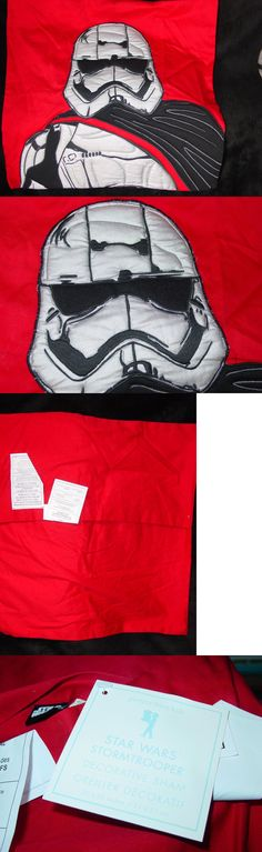 Pillowcases and Shams 124327: New Star Wars Stormtrooper Decorative Red And Silver Sham 20 X 20 Pottery Barn -> BUY IT NOW ONLY: $49.99 on eBay!