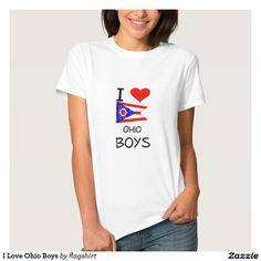 I Love Ohio Boys T Shirts