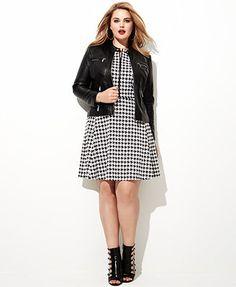 MICHAEL Michael Kors Plus Size Printed Zip-Front Sleeveless Dress