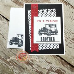 Masculine Cards, Stampin' Up!