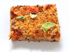Easy Pan Pizza With Sun-dried Tomatoes, Caramelized Onions, Olives, and Breadcrumbs (Vegan) | Serious Eats : Recipes