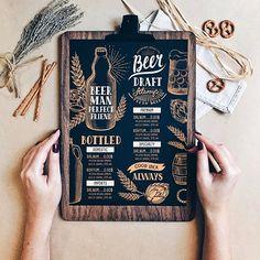 Latest Beer menu template