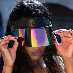 THE ORIGINAL Paparazzi Visor™. Visors for women. Visors for men. Visors for kids. Visors for babies.Don't buy a fake one! The UV Protective Sun Visor with 7 Settings of Sun Blocking Magic. All visors are SPF / UPF. Cute Sunglasses, Mirrored Sunglasses, Sunglasses Women, Trending Sunglasses, Sun Visor Hat, Visor Hats, Dior, Rave Festival, Orange And Purple