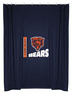 Chicago Bears Shower Curtain.