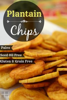 With this quick and easy 2 ingredient plantain chip recipe you can have delicious homemade plantain chips that are made with nothing but real food. Primal Recipes, Whole Food Recipes, Snack Recipes, Cooking Recipes, Whole30 Recipes, Paleo Treats, Healthy Snacks, Healthy Recipes, Healthy Kids
