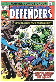 The Defenders 23 VF 8 0 Marvel 1975 Hulk Dr Strange Nighthawk Valkyrie Serpent Marvel Comics Superheroes, Marvel Comic Books, Marvel Characters, Comic Books Art, Marvel Avengers, Marvel Heroes, Captain Marvel, Captain America, Defenders Comics